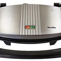 Breville 铂富 VST025 热压三明治/帕尼尼和烤面包机,不锈钢
