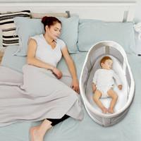 婴儿床中床 新生幼儿床便携式可折叠旅行宝宝床睡篮睡床边床 初生婴儿尿布台 护理床 婴儿床中床-领潮版