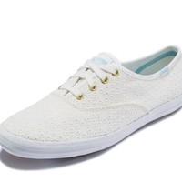 KedsWF57971 女士帆布小白鞋 低帮平底鞋