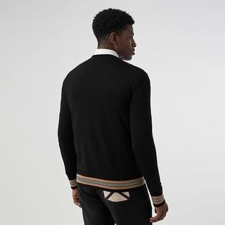 BURBERRY/博柏利男装 标志性条纹美利奴羊毛针织衫 80091511
