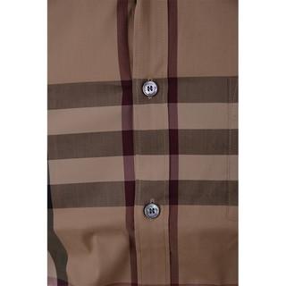 BURBERRY博柏利秋冬新款男士欧美条纹商务修身长袖衬衫NELSON