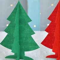 爱新奇 圣诞帽+圣诞树 无纺布 12*16cm