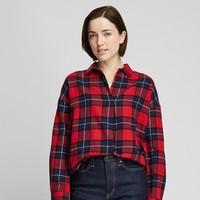 12号:UNIQLO 优衣库 421612 女士法兰绒格子衬衫