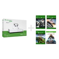 Microsoft 微软 Xbox One S 1TB 青春版(无光驱) 游戏主机 + 《战争机器4》《我的世界》《圣歌》《地平线3》