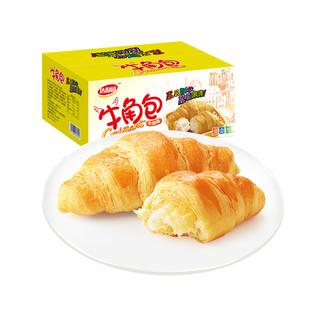 达利园糕点牛角包牛油味1000g/箱酥软早餐手撕面包休闲零食大礼包 *2件