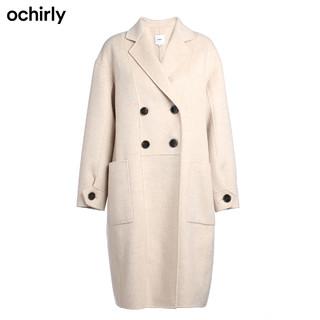 ochirly欧时力2019新款冬装羊毛双面呢茧型大衣外套女1ZY4342370