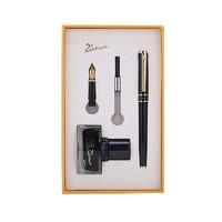 Pimio 毕加索 709 钢笔 双笔尖墨水礼盒套装(0.5mm+1.0mm)亮黑金夹