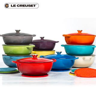 法国进口LE CREUSET酷彩 珐琅铸铁锅24cm深烧 煎炒炸平底圆炖煮汤