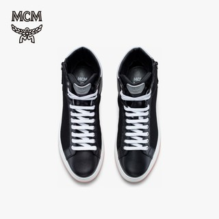 MCM 2019秋冬新品 RESNICK 男士拉链系带高帮休闲鞋