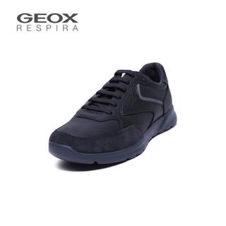 GEOX/健乐士男鞋2019秋冬新品运动休闲皮革拼接鞋U923EA