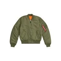 ALPHA INDUSTRIES 男士 MA-1修身飞行夹克
