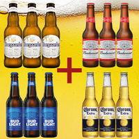 多国啤酒组合 Budweiser/百威福佳科罗娜啤酒