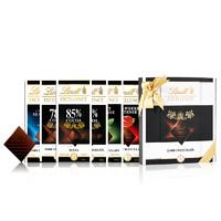 Lindt瑞士莲特醇排装黑巧克力白色礼盒6片装50%70%78%85%99%海盐