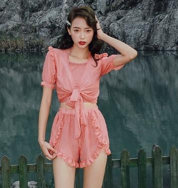 亦美珊 YMS199345 三件套分体式泳衣