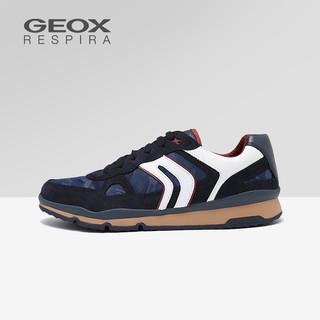 GEOX 健乐士 U92A6A 男鞋运动鞋 海军蓝/白色 42