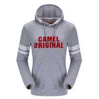 CAMEL/骆驼圆领长袖t恤秋季针织衫男女时尚纯色打底衫舒适套头休闲卫衣