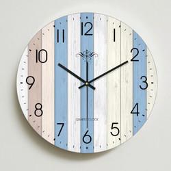 家用钟表客厅挂钟卧室美式时钟挂表静音