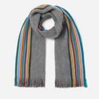 Paul Smith 男款彩虹条纹 羊毛围巾