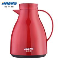 HAERS 哈尔斯 玻璃内胆保温壶 1L 红色