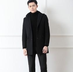 Hodo 红豆 HWJ8J2102 男士羊毛混纺大衣 *3件