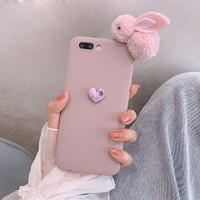毛绒兔卡通手机壳 苹果/oppo/vivo可用