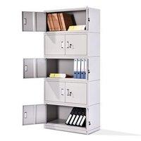 中伟文件柜办公柜钢制铁皮柜资料柜档案柜储物柜分五节文件柜