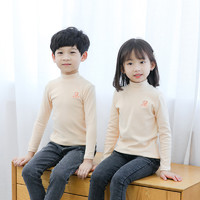 北极绒 儿童棉打底衫 半高领 890-130cm可选