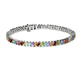 Blue Nile 925纯银 多宝石长方形手链