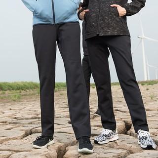 kroceus 地球科学家 D7603 男女防泼水抓绒软壳裤 藏青 L