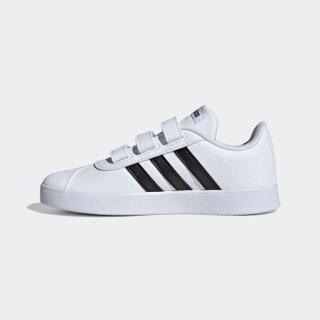 adidas 阿迪达斯 VL COURT 2.0 DB1837 儿童运动休闲鞋 (白)