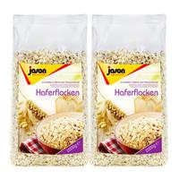 荷兰进口捷森燕麦片1kg×2牛奶冲饮煮粥谷物粗粮低糖高纤维健身粗粮饱腹代餐早餐新包装 *3件