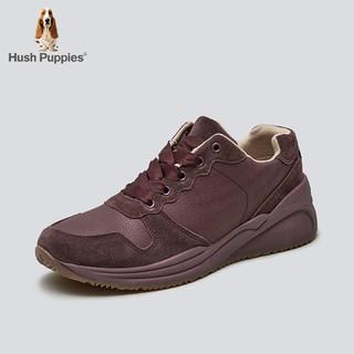 Hush Puppies 暇步士 春季厚底系带运动休闲跑步女鞋健步鞋