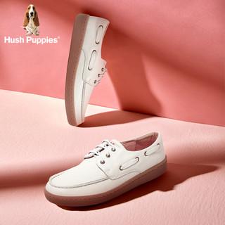 Hush Puppies 暇步士 小白鞋女软皮鞋