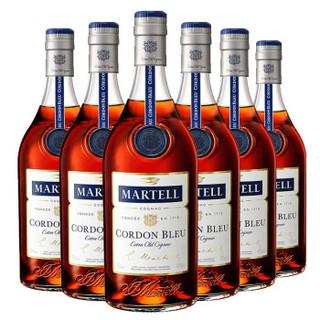MARTELL 马爹利 蓝带700ml*6 法国干邑白兰地XO级 进口洋酒