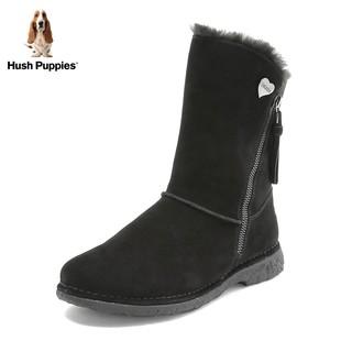 Hush-Puppies-暇步士冬季专柜同款女雪地靴毛里W1F12DZ8