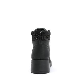 暇步士冬季专柜同款系带厚底黑色英伦风机车马丁靴女N1D05DD8
