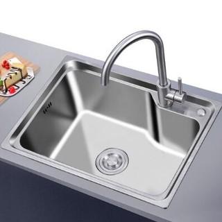 Larsd 莱尔诗丹 304不锈钢水槽单槽  580*430mm