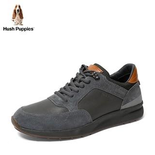 Hush Puppies 暇步士 2019秋新款专柜同款时尚拼接运动系带百搭休闲鞋男