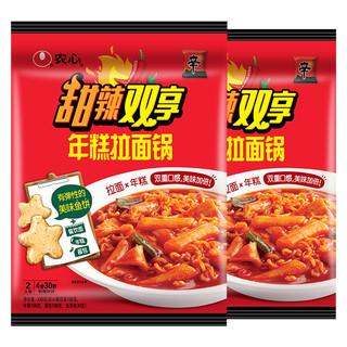 NONG SHIM 农心 甜辣双享年糕拉面锅330gX2袋方便面