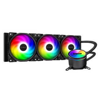 超频三(PCCOOLER)凌镜GI-CX360 ARGB CPU水冷散热器 (支持TR4/2066/5VRGB主板神光同步/全面屏水冷头)