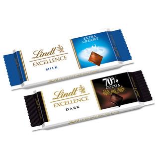 Lindt/瑞士莲特醇排装70%可可黑巧克力 420g