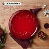 Le Creuset 酷彩 炻瓷圣诞星星系列19cm圆形盘多色多彩盘子