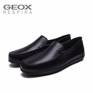 健乐士 GEOX 商务休闲鞋 U920WA00043 黑色C9999