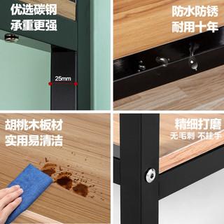 心家宜 厨房置物架1层 碳钢 经典黑 60*32*48CM