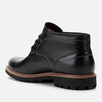 Clarks Batcombe Lo 男款真皮短靴