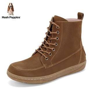 Hush Puppies 暇步士 平底短靴女英伦风百搭休闲靴
