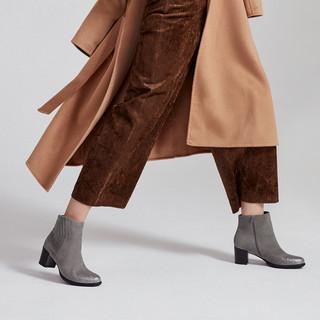 Hush-Puppies-暇步士冬季专柜同款羊皮革粗跟套筒女靴HMJ40DD7