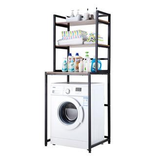 心家宜 三层洗衣机架(象牙白+白枫木纹板)