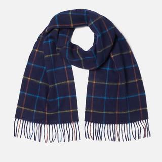 黑五全球购、银联专享 :  Barbour Tattersall 格子羊毛围巾