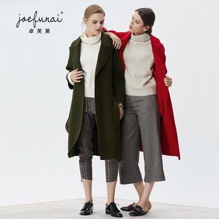 JOEFURAI 卓芙莱 女士羊绒外套 军绿色